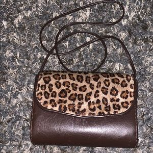 Bags by Pinky Leopard Crossbody Leather Bag